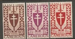 CAMEROUN - Yv. N° 254 à 256   *  80c,1f,1f50   Série Londres Cote  1,5 Euro  BE 2 Scans - Cameroun (1915-1959)