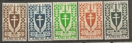 CAMEROUN - Yv. N° 249 à 253   *  5c à 40c   Série Londres Cote  1 Euro  BE 2 Scans - Cameroun (1915-1959)