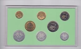 Plaquette Fleur De Coin Des Monnaies 1999 .Huit Monnaies Sous étui Plastique Et Carton. - Djibouti