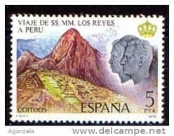 TIMBRE ESPAGNE NOUVEAU 1978 INDIENS INCAS PERU MACHU PICCHU - Indios Americanas