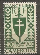 CAMEROUN - Yv. N° 262   *  20f Série Londres Cote  2,1 Euro  BE 2 Scans - Cameroun (1915-1959)