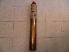 Obus 75mm Francais Fumigéne 1917 Neutralisé - Sammlerwaffen