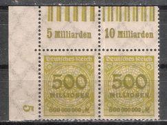 Reich Deux Variétés Du N° 305 Neuf ** Michel N° 324 A W OR (0'6'0/0'6'0 + 0'6'0/0'7''0) - Unused Stamps