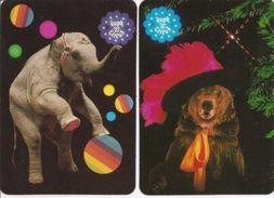 2 Packet Calendar  CIRCUS  Russia  1987 - Calendriers