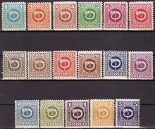 Austria 1945 Mi 721-37  MNH** VF - 1918-1945 1ère République