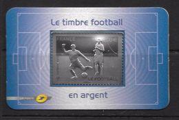 FRANCE 2010 TIMBRE ARGENT FOOTBALL SOUS-BLISTER  YVERT N°  NEUF MNH** - Soccer