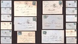 Lot De 18 Lettres Avec Cérès Bordeaux N° 46B - Cote + 500 - Timbres