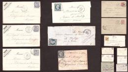 Lot De Lettres Anciennes Dont Oblitérations Daguin, Trésor Et Postes - TP Type Sage, Cérès N°4, 45B, Nap N° 10 ... - Timbres
