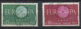 France 1960 - N° 1266  & 1267 -  Europa CEPT - Oblitérés * - Used Stamps