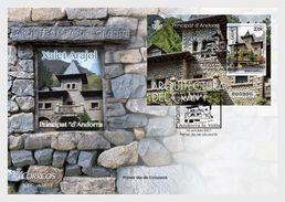 Andorra / Andorre - Postfris / MNH - FDC Sheet Granieten Architectuur 2017 - Nuovi