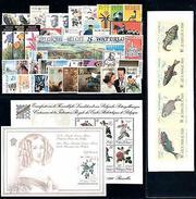 Belgium 1990 Complete Year Set Incl.  2 Souv. Sheets / 1 Carnet MNH - Belgium