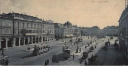 06 NICE La Place Massena  Carte Panoramique  (27,5 X 13,5 Cm) Non Pliée - Szenen (Vieux-Nice)