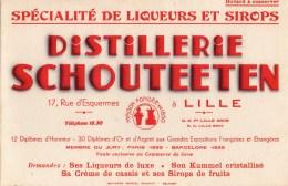 Buvard Distillerie Schouteeten  17 Rue D'Esquermes LILLE - Liqueur & Bière