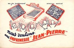 Buvard  Imprimerie  Jean-Pierre - Blotters