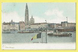 * Antwerpen - Anvers - Antwerp * Panorama, Vue Générale, Cathédrale, Schelde Escaut, Bateau, Péniche, Boat, Canal - Antwerpen