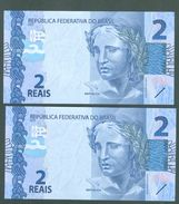 BRAZIL CURRENCY  - 2 REAIS  - 2010 - Brazil
