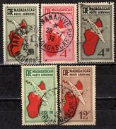MADAGASKAR 1935 - MiNr: 214 - 228  Lot 5 Verschiedene  Used - Gebraucht