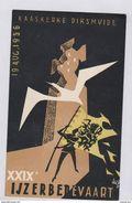1956 29ste Ijzerbedevaart Kaaskerke Diksmuide Vlaams Nationalisme Illustrator Oude Postkaart AVV VVK Vlaamse Beweging - Evènements