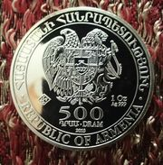 "ARMENIA 500 DRAM 2013 SILVER ""BULLION COINAGE"" (free Shipping Via Registered Air Mail) - Armenia"