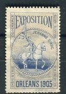 France - Vignette Jeanne D' Arc D 'Orléans En 1905 Neuf Sans Gomme - Ref 093 - Commemorative Labels