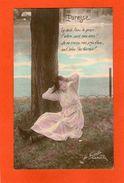 Jolie Jeune Femme - Paresse - Le Vent L'Eau ,......(La Favorite 1312 Photo Plein Air ) -1917 - Women