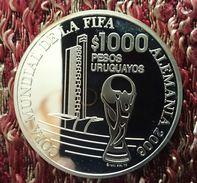 "URUGUAY 1000 PESOS URUGUAYOS 2005 SILVER PROOF ""XVIII World Championship Football - Germany 2006"" - Uruguay"