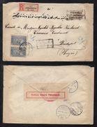 ANDRINOPLE - EDIRNE - EMPIRE OTTOMAN - TURQUIE / 1918 LETTRE RECOMMANDEE CENSUREE POUR LA HONGRIE (ref 7677) - Covers & Documents