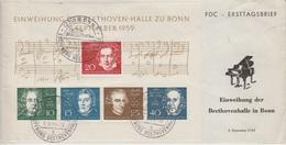 Brief FDC Beethoven Halle 8.9.1959 ??? - BRD
