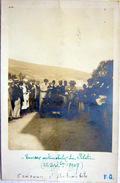 42 MONT PILAT CONCOURS D'AUTOMOBILE CARTE PHOTO UNE VOITURE AU DEPART  22 SEPT 1907 VOYAGE EN 1907 - Mont Pilat