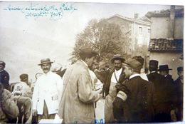 42 MONT PILAT CONCOURS D'AUTOMOBILE RALLYE CARTE PHOTO LES OFFICIELS  22 SEPT 1907 VOYAGE EN 1907 - Mont Pilat