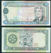 Turkmenistan 1995 20 Manat UNC - Turkmenistan