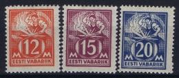 Estonia: Mi Nr 57 - 59 MH/* Falz/ Charniere   1925 - Estonie