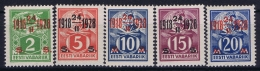 Estonia: Mi Nr 68 - 72 MH/* Falz/ Charniere   1928 Signed/ Signé/signiert - Estonie