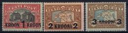 Estonia: Mi Nr 87 - 89 MH/* Falz/ Charniere   1930 Signed/ Signé/signiert - Estland