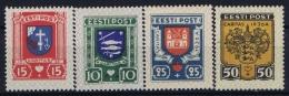 Estonia: Mi Nr 109 - 112 MH/* Falz/ Charniere   1936 - Estonie