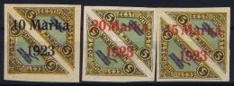 Estonia: Mi Nr 43 B + 44B Airmail MH/* Falz/ Charniere   1923 Signed/ Signé/signiert - Estonia