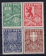 Estonia: Mi Nr 142 - 145 Postfrisch/neuf Sans Charniere /MNH/** - Estonie