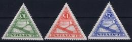 Latvia Lettland: Mi Nr 177 B - 179 B MH/* Falz/ Charniere 1931 Perfo 10.75  Airmail - Lettland