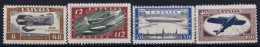 Latvia Lettland: Mi Nr 228A - 231 A  MH/* Falz/ Charniere Signed/ Signé/signiert  1933 - Lettland