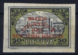 Lithuania Mi 320 B ORO PASTAS LITHUANICA II 1935 NEW YORK - KAUNAS MH/* Falz/ Charniere  Signed/ Signé/signiert - Lithuania