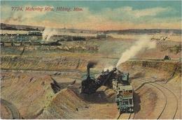 7724, Mahoning Mine,Hibbing,Minn.  - Colored - Pub. By News Tribune - Minerals