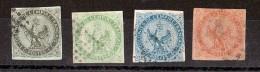 Colonies Générales - 1859/65 - N° 1, 2, 4 Et 5 Oblitérés - Aigleimpérial - Cote 77 - Eagle And Crown