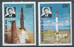 Haute-Volta Poste Aérienne YT N°160/161 Fusée Kennedy Neuf ** - Haute-Volta (1958-1984)