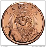 Copper Cobre Cuivre Round 2011 Stati Uniti - Medaglia Da Un Oncia Once In Rame INDIAN LAKOTA BUFFALO Proof - Etats-Unis