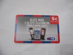 RICARICA TELEFONICA USATA TIM  ALICE MAIL. - Italia