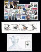 Belgium Belgien 1989 Complete Year Set Incl. Souv. Sheet And Carnet MNH - Belgium