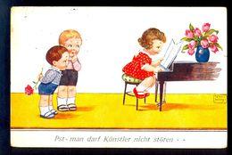 John-Wills - Pst - Man Darf Kunstler Nicht Storen... / Postcard Circulated, 2 Scans - Wills, John
