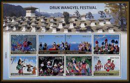 BHUTAN 2016 - Folklore, Festival Druk Wangyel - Feuillet 8 Val Neufs // Mnh - Bhutan