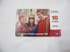 RICARICA TELEFONICA USATA TIM  LA STORIA D'ITALIA. - Italia