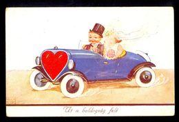 John-Wills - Ut A Boldogsag Fete / Visible Damage On Postcard / Postcard Circulated, 2 Scans - Wills, John